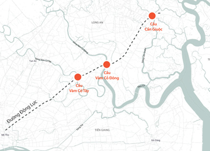 3 cầu nối TP HCM với miền Tây tăng vốn 1.300 tỷ đồng