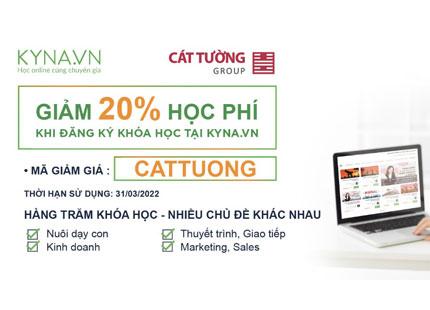 Kyna.vn và Cát Tường Group ký kết hợp tác liên kết, ưu đãi giảm 20% toàn bộ khoá học